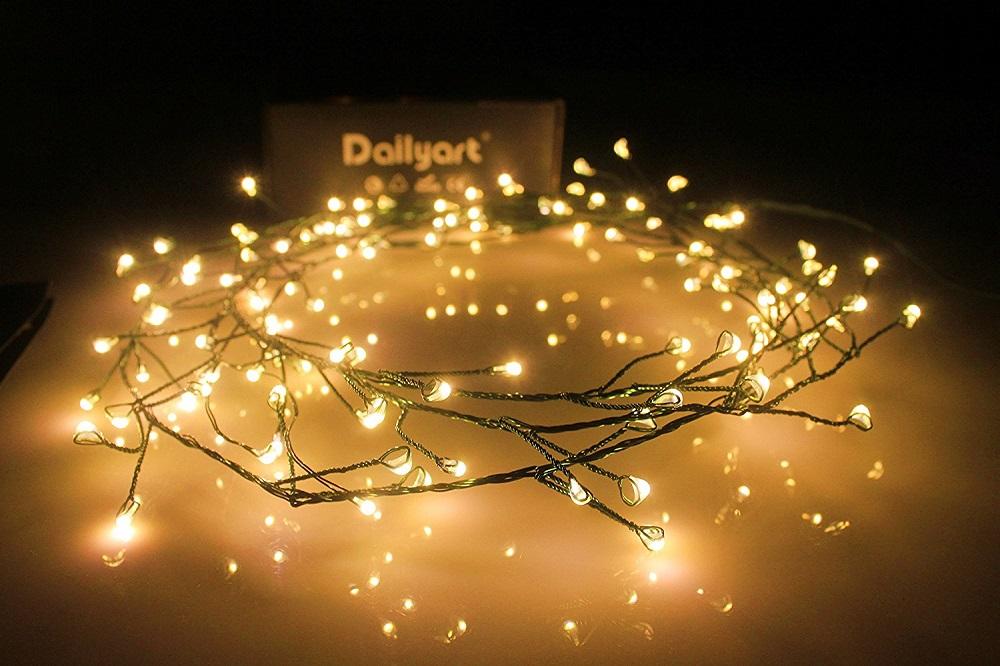 wholesale dealer 24650 6e097 6feet 120 LED Starry Lights, Dailyart Battery Operated Waterproof Dark  Green Copper Wire Fairy Light String Light for Garland, Wreath, Patio,  Garden, ...